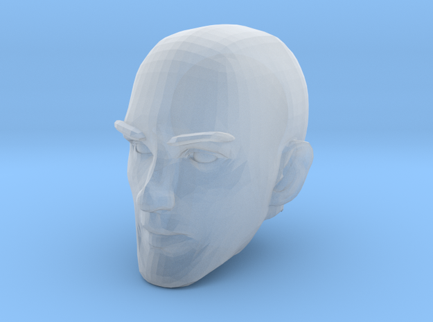 Bald Head 1 in Smooth Fine Detail Plastic