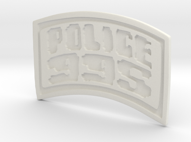 POLICE-995-badge (Uniform) in White Natural Versatile Plastic
