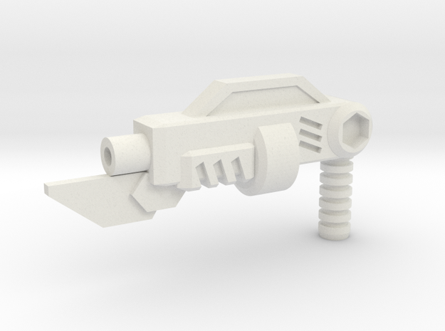 3mm Melee Shotgun in White Natural Versatile Plastic