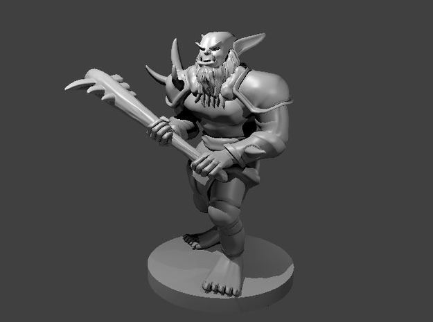Bugbear New with Club in Smooth Fine Detail Plastic