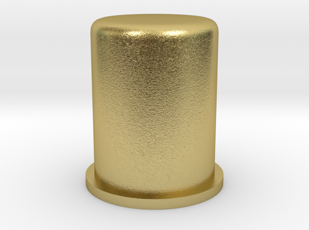 Blade Plug Cylinder in Natural Brass