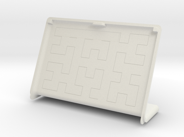 Cover for pimoroni inky wHAT and raspberry pi  in White Natural Versatile Plastic