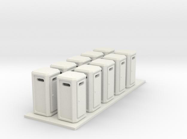 DIXI Klo Toilet TOI TOI Spur N Scale 1:160 in White Natural Versatile Plastic