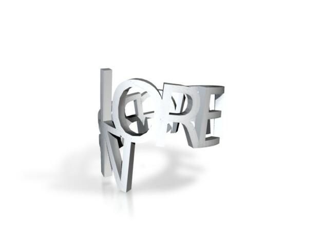 Ring Poem in Matte Gold Steel