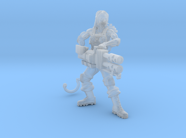 Female jungle fighter heavy flamer  in Smoothest Fine Detail Plastic