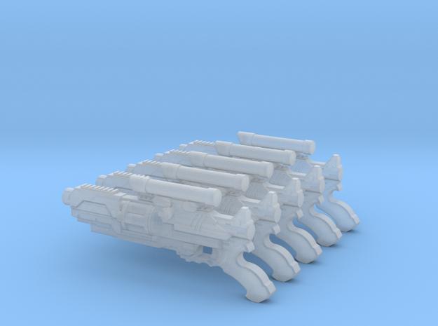 Mk1 - Shrike Pattern Gyrojet Riffle (x5) in Smooth Fine Detail Plastic