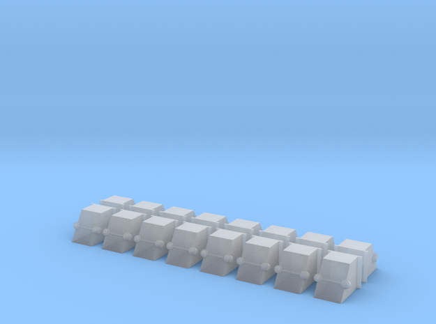 GWR Axle Boxes - 16 Pack in Smooth Fine Detail Plastic
