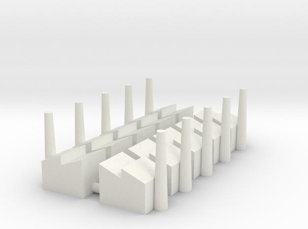 Minor Industrial Complex (x10) in White Natural Versatile Plastic