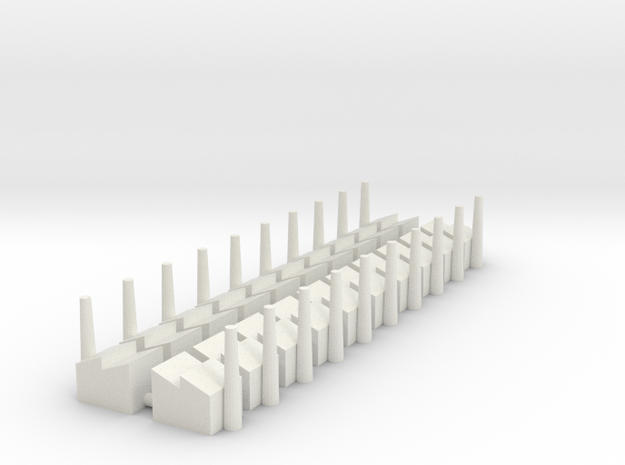 Minor Industrial Complex (x20) in White Natural Versatile Plastic