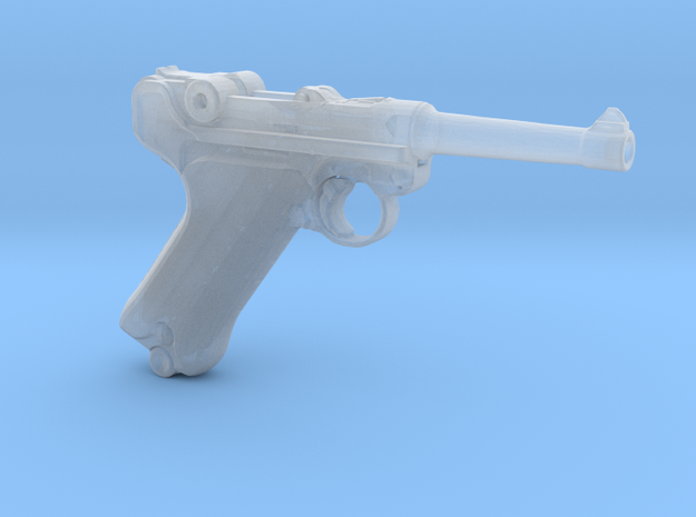 1/9 Scale Luger  in Smooth Fine Detail Plastic