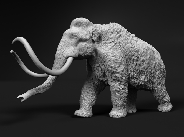 Woolly Mammoth 1:48 Walking Male in White Natural Versatile Plastic