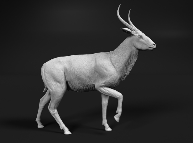 Waterbuck 1:25 Walking Male in White Natural Versatile Plastic