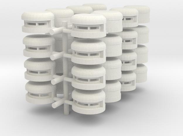 Pill Box x24 in White Natural Versatile Plastic