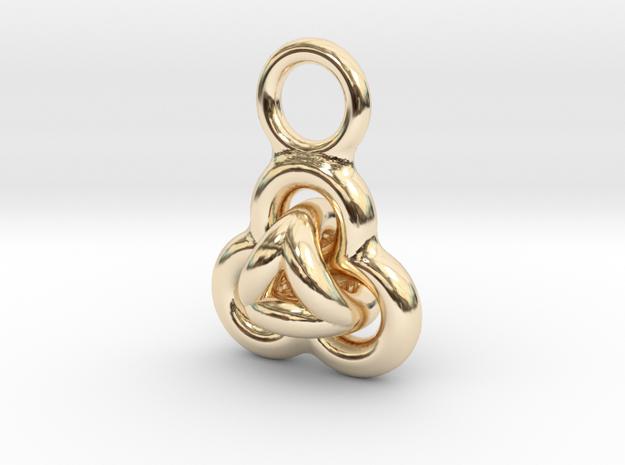 Interlocked Rings earring in 14k Gold Plated Brass