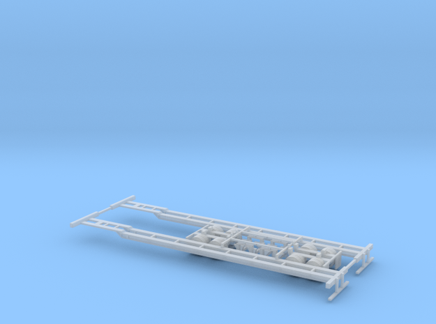 N 53' Container Chassis 2 Pack v1 in Smooth Fine Detail Plastic
