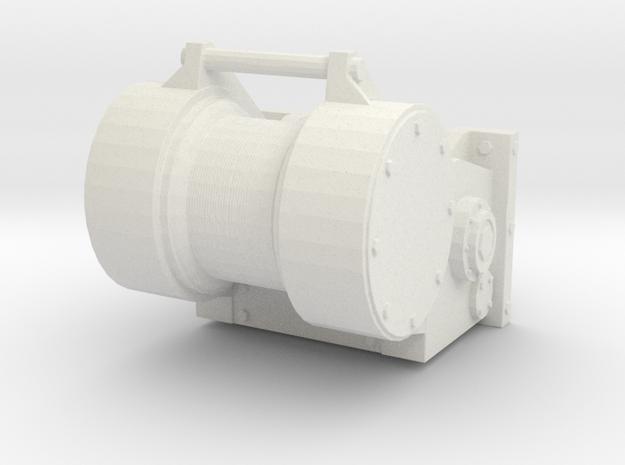 1/25 Logging type bulldozer winch 1  in White Natural Versatile Plastic