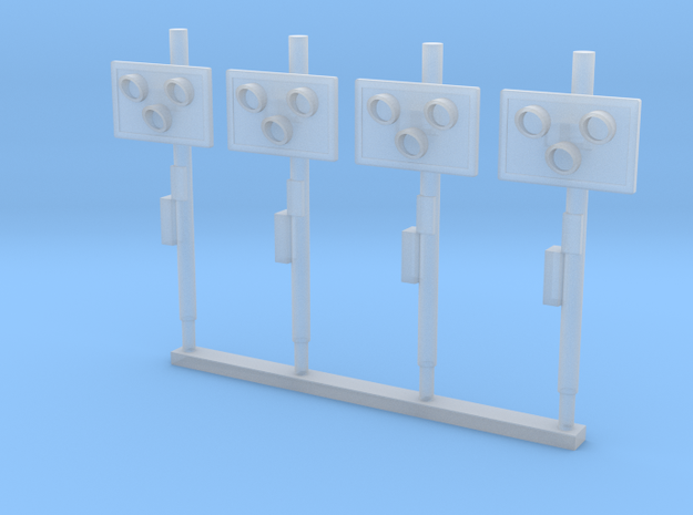 (1:76) BR Level-Crossing Warning Lights in Smooth Fine Detail Plastic