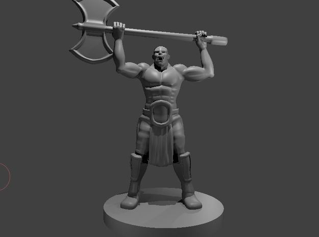 Half Orc Barbarian WITH A PONYTAIL raging