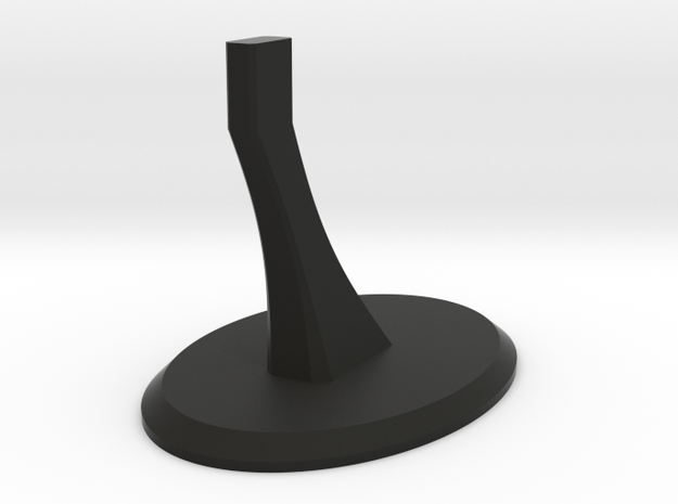 """Display Stand for 4.75"""" Runners Spaceship in Black Natural Versatile Plastic"""