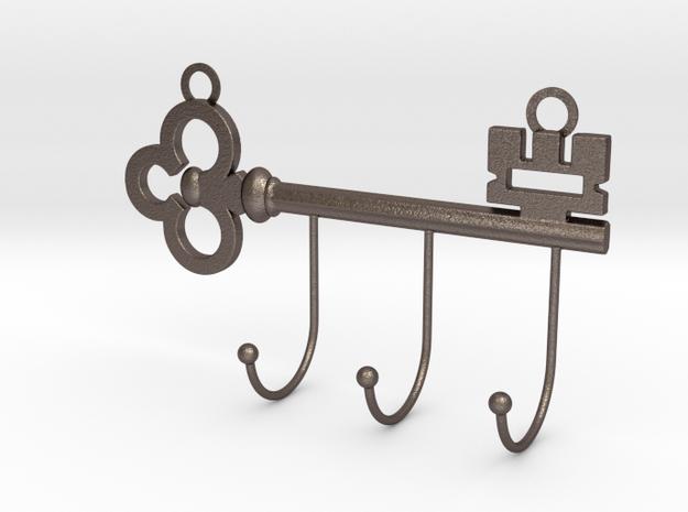 Key Hanger in Polished Bronzed-Silver Steel
