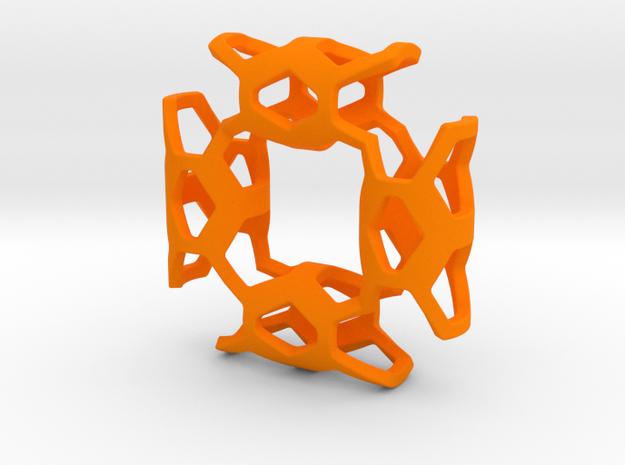 Geometric Necklace-47 in Orange Processed Versatile Plastic