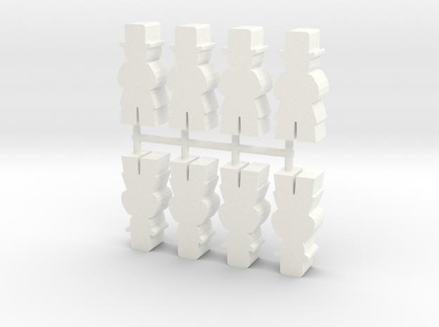 Custom Order, Senator, Large, 8-set in White Processed Versatile Plastic