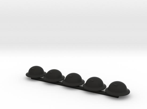 5 x Brodie in Black Natural Versatile Plastic
