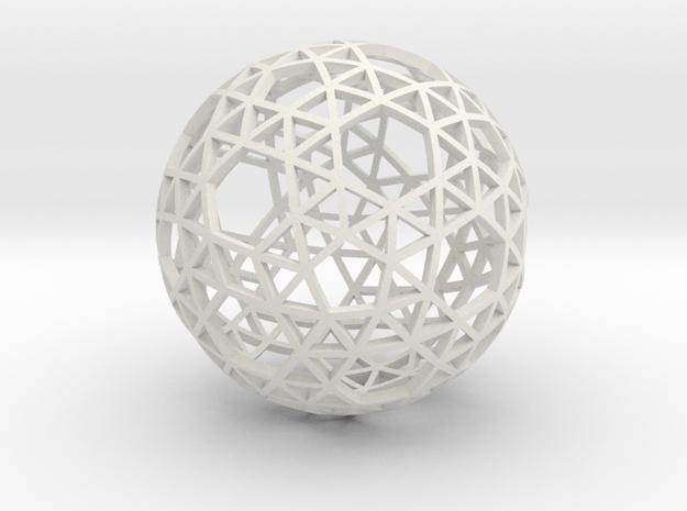 SNUB_TRUNCATED_ICOSAHEDRON in White Natural Versatile Plastic