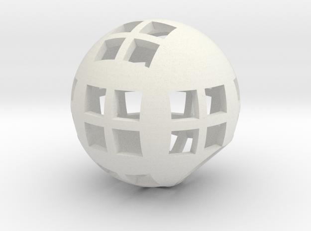 Spherical pencil holder in White Natural Versatile Plastic