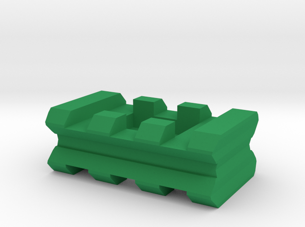 """Back-to-Back Weaver Rails Adapter (3 Slots 0.5"""" To"""