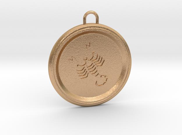 scorpio-pendant in Natural Bronze