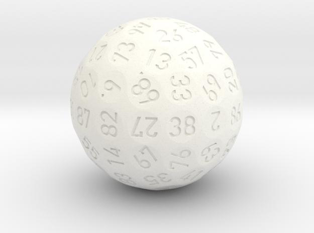 d90 (Smaller) in White Processed Versatile Plastic