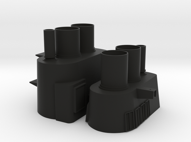 1/96 scale Tico Stacks in Black Natural Versatile Plastic