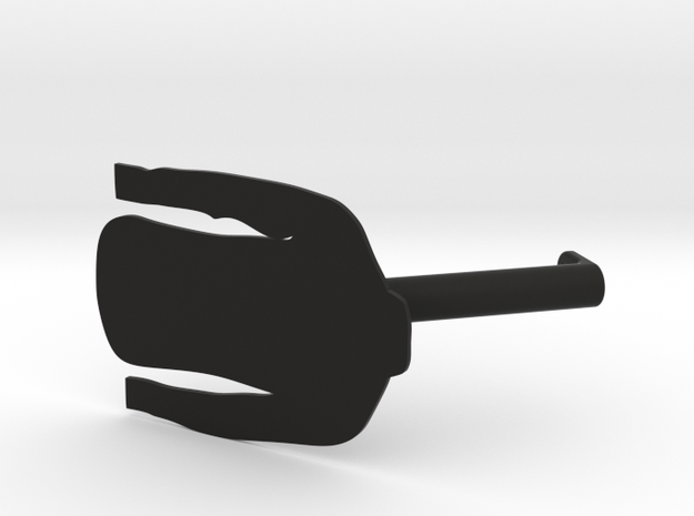 Long Sleeve Shirt Wardrobe Display Identifier in Black Natural Versatile Plastic
