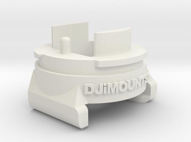 DJi Inspire 1 Camera Connector in White Natural Versatile Plastic