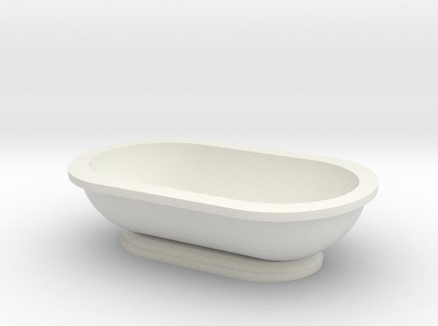 Scale Model Modern Bathroom Tub  in White Natural Versatile Plastic: 1:12