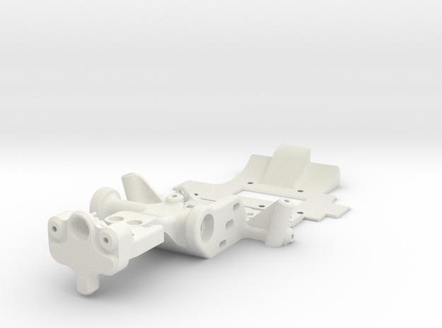 MINIZ F1 - TRIDAMPER MOUNT in White Natural Versatile Plastic