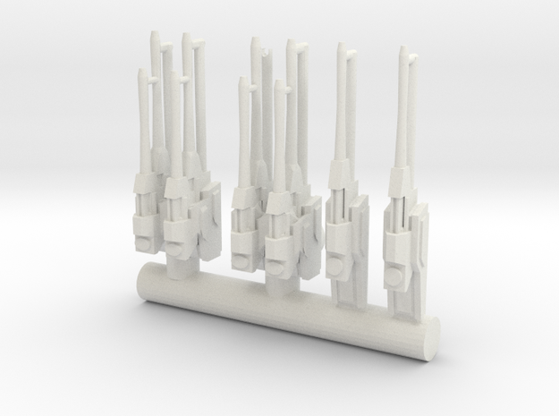 RC BRUNNER Rebels Turrets in White Natural Versatile Plastic
