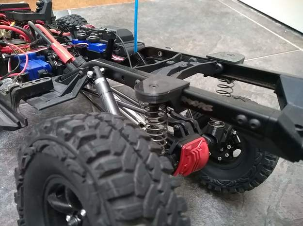 TRX-4 scale suspension rear upper part in White Natural Versatile Plastic
