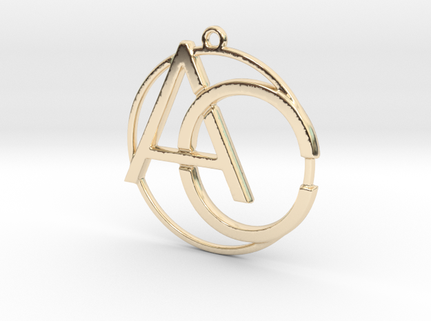 A&C Monogram in 14k Gold Plated Brass