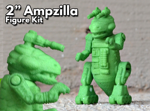 "Ampzilla, 2"" Version. in Green Processed Versatile Plastic"