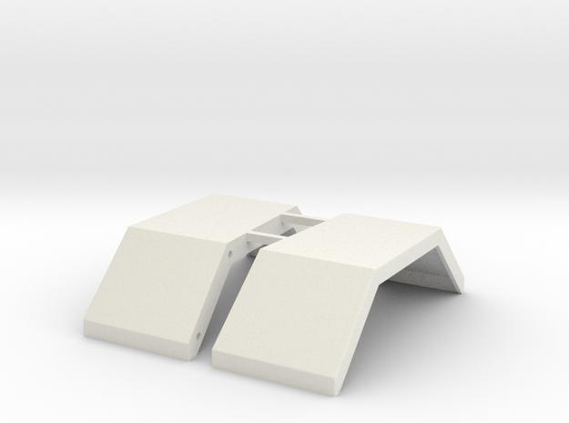 Peterbilt 353 Fenders in White Natural Versatile Plastic