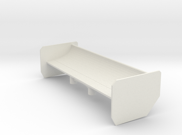 Mosler Large Spoiler in White Natural Versatile Plastic