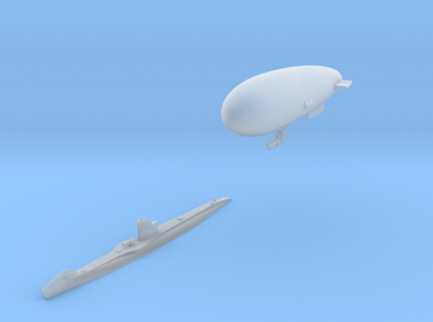 SS Zero and UBIII U-Boat set in Smooth Fine Detail Plastic: 1:700