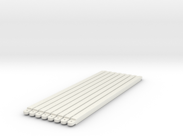 diagonal_beams_middle_section in White Natural Versatile Plastic