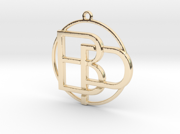 B&P Monogram in 14k Gold Plated Brass