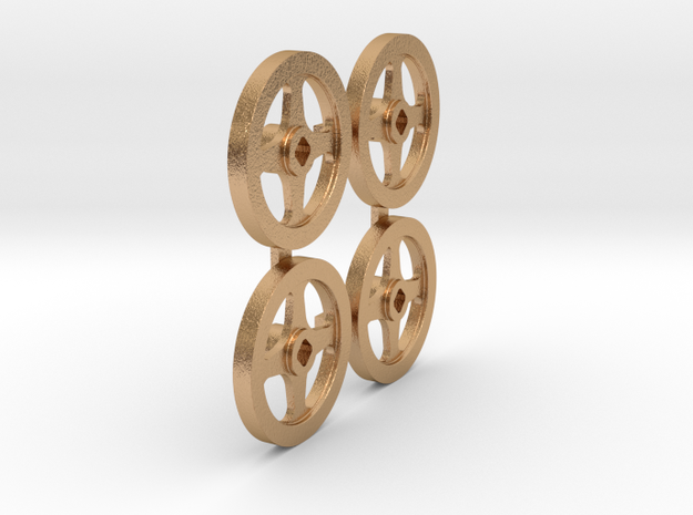 4 off Steam Valve Wheels 1.5 inch/Foot scale TGR M in Natural Bronze