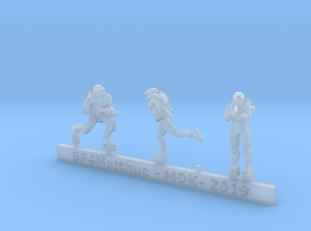 Scifi Spartans with rifles sprue in Smooth Fine Detail Plastic: 6mm