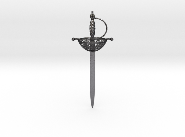 Sword Letter Opener in Polished and Bronzed Black Steel