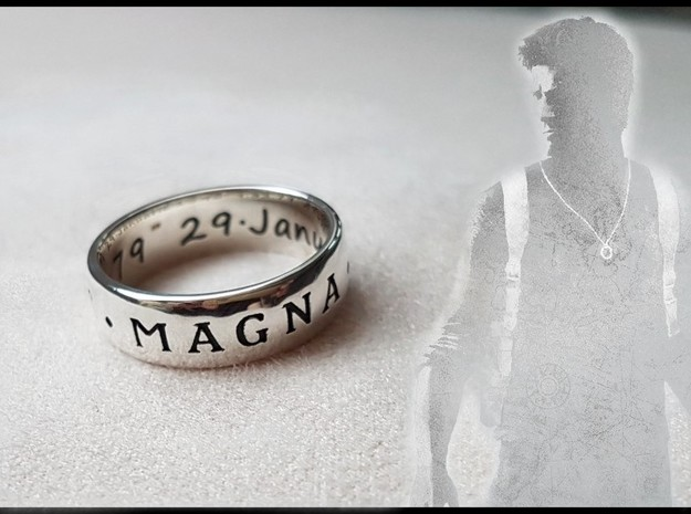 Premium Sir Francis Drake Ring (Uncharted) in Antique Silver: 10.5 / 62.75